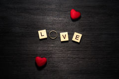 Wooden letters spelling love Stock Image