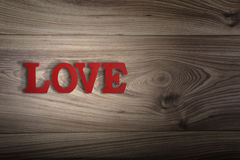 Wooden letters spelling LOVE Stock Images