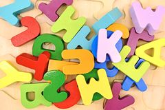 Wooden Letters Royalty Free Stock Images