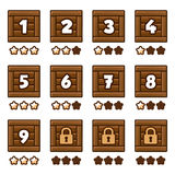 Wooden level selection Royalty Free Stock Photo
