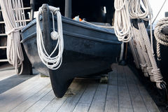 Wooden Lifeboat Royalty Free Stock Photo