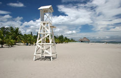 Wooden Lifeguard Tower Stock Image