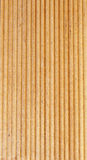 Wooden light brown grooves panel Stock Photography