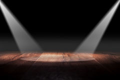 Wooden. Light on wooden floor in empty room Royalty Free Stock Photography