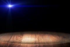 Wooden. Light on wooden floor in empty room Stock Photography