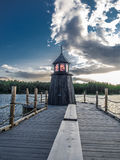 Wooden Lighthouse. Scary house in a harbour Stock Photography