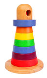Wooden lighthouse toy Stock Photo