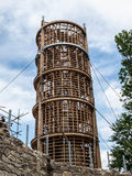 Wooden lighthouse under construction Stock Photos
