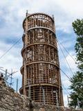 Wooden lighthouse under construction Stock Photos