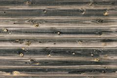 Wooden lining boards wall. dark brown wood texture. background old panels, Seamless pattern. Horizontal planks.  Stock Image