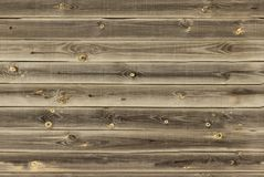 Wooden lining boards wall. midtone brown wood texture. background old panels, Seamless pattern. Horizontal planks.  Royalty Free Stock Images
