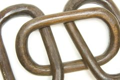 Wooden Links Royalty Free Stock Photography
