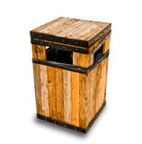 The Wooden litter bin Royalty Free Stock Photography
