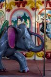 Little elephant in the carroucel royalty free stock photo