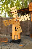 Wooden little windmill at the fair Stock Image