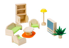Wooden living toy room Royalty Free Stock Photography