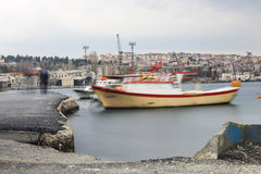 Wooden local small fisherboat Royalty Free Stock Photo