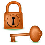 The wooden lock Royalty Free Stock Images