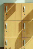 Wooden locker. The wooden locker with handle stock image