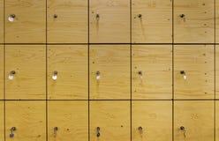 Wooden locker Stock Photo