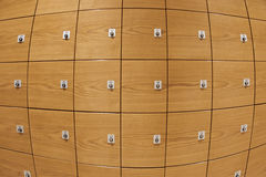 Wooden lockers Royalty Free Stock Images