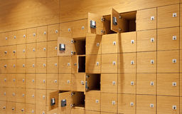 Wooden lockers Royalty Free Stock Photo