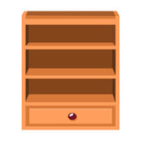 Wooden lockers isolated illustration Stock Images