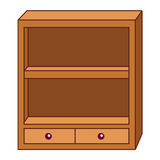 Wooden lockers isolated illustration Royalty Free Stock Photo