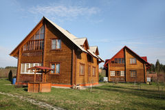 Wooden lodges Stock Photography