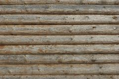 Wooden Log Cabin Old Wall Natural Colored Horizontal Background Stock Photography