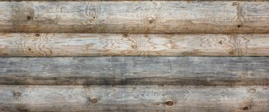Wooden Log Cabin Old Wall Natural Colored Horizontal Background Stock Photos
