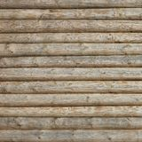 Wooden Log Cabin Old Wall Natural Colored Horizontal Background Royalty Free Stock Image