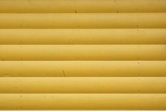 Wooden Log Cabin Yellow Wall Horizontal Background Royalty Free Stock Image