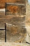 Wooden log close-up Stock Photos