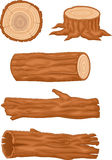 Wooden log collection Royalty Free Stock Photos