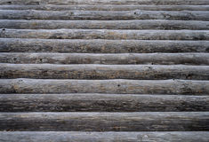 Wooden log deck background Royalty Free Stock Image