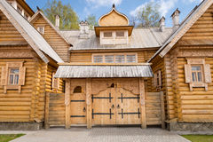 Wooden log house Stock Images