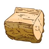 Wooden Log isolated Royalty Free Stock Images