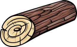 Wooden log or stump cartoon clip art Royalty Free Stock Image