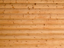 Wooden log wall background Stock Photo