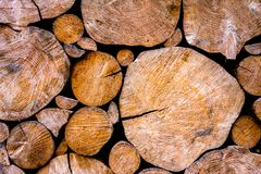 Wooden log wall in countryside Royalty Free Stock Photography