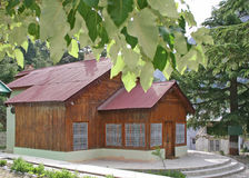 Wooden loghut. Wooden log hut habitat in himalayas Stock Images