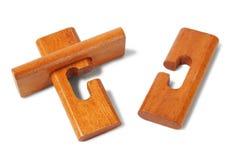 Wooden logic puzzle Royalty Free Stock Image