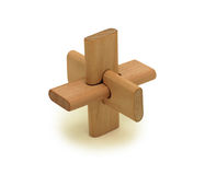 Wooden logical toy, isolated Royalty Free Stock Photo