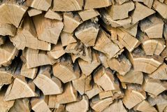 Wooden logs. A pile of chopped wooden logs Royalty Free Stock Photos