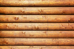 Wooden logs background Stock Images