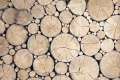 Wooden logs Background Royalty Free Stock Photography