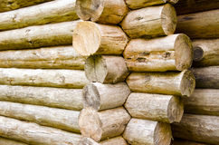 Wooden logs building construction Royalty Free Stock Photos