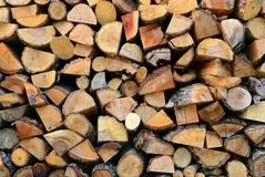 Texture of wooden logs Royalty Free Stock Image