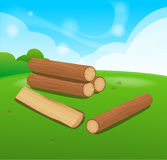 Wooden Logs  Isolated  objects Royalty Free Stock Image